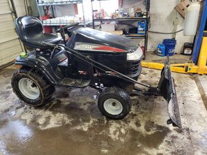 Craftsman tractor and plow in great condition for Sale in Sunbury, OH