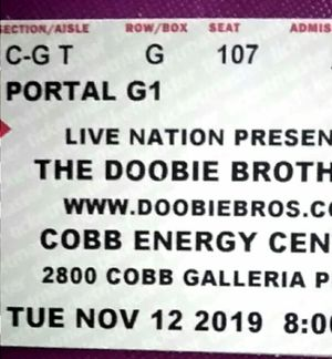 🎵 The Doobie Brothers 🎵 2 Tickets =$100 🎵 Will meet at police station 🎵 for Sale in Stockbridge, GA