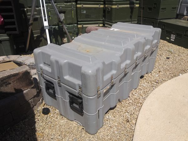 """Hardigg Pelican 56""""x26""""x24 Military Shipping & Storage Case / Container with forklift wells and removable lid."""