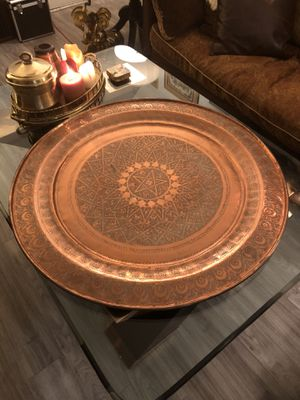 Antique Solid Copper Charger/Table Top for Sale in Phoenix, AZ