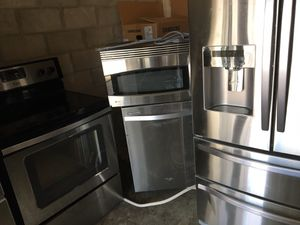 Like new stainless steel package fridge stove dishwasher microwave just $1,750 for Sale in Orlando, FL