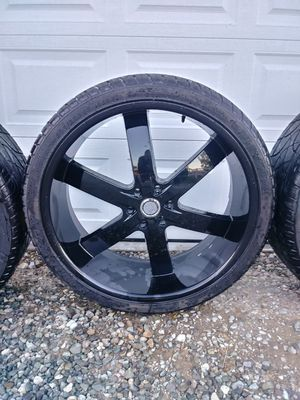 4 Nice 26in rims and tires for Sale in Marysville, WA