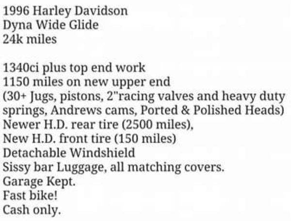 Harley Davidson 96 Dyna Wide Glide