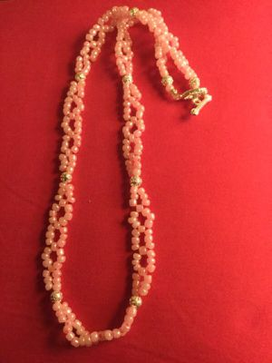 Fashion necklace / Pink glass beads and silver for Sale in Alexandria, VA