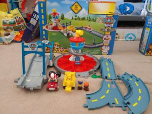Paw Patrol Launch n Roll Lookout Tower Track set PLUS Chase in Cruiser - $35 for Sale in Riverside, CA