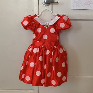 Disney Minnie Mouse Dress Up Costume With Ears! for Sale in Long Beach, CA