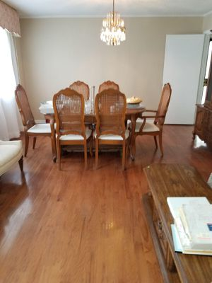 Oak dining table and 6 chairs for Sale in Baird, MS