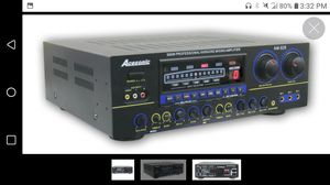 Acesonic 500 watt proffesional kareoke mixing amplifier and whole club setup all for $100 or a good washer machine or two window ac units for Sale in Oklahoma City, OK