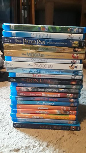 Disney movies blu ray for Sale in Fort Worth, TX