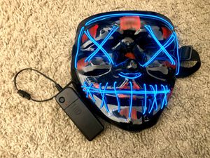 LED Light Mask Costume Prop with different settings and remote for Sale in Las Vegas, NV