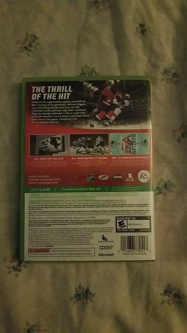 X box 360 NHL 14