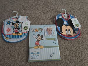 Baby Mickey Baby Book And Bibs for Sale in Cutler Bay, FL