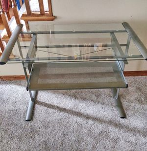 Office computer desk glass for Sale in Tigard, OR