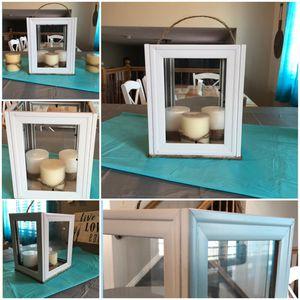 White 5x7 Farmhouse Lantern Decor for Sale in South Jordan, UT