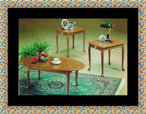 3pc coffee table Oak for Sale in Crofton, MD