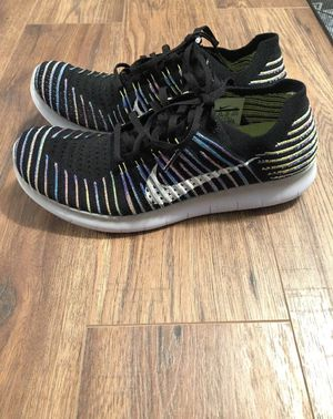 Nike Free Rn Flyknit Men's Size 9.5 Athletic Running Shoes Rainbow for Sale in Fort Worth, TX