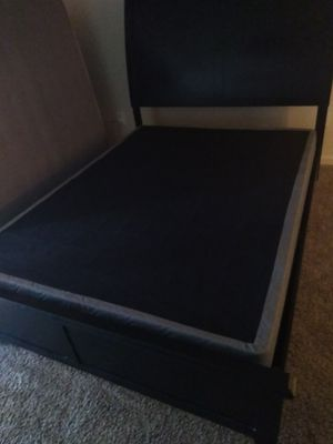 Ashley brand queen bed frame box spring for Sale in Evansville, IN