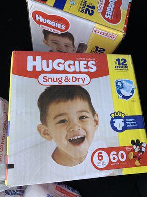 Huggies size 6 cases for Sale in Newport News, VA