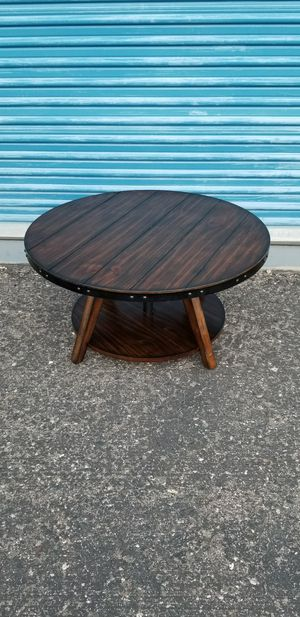 """Small industrial style coffee table. Measures approx 34"""" wide. Height is adjustable from 16""""-18"""". for Sale in Phoenix, AZ"""