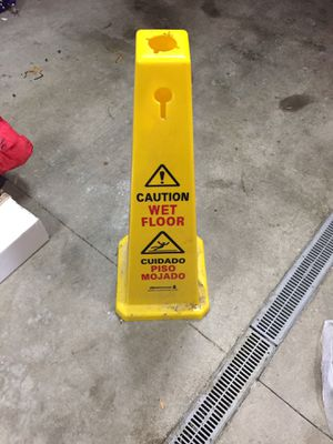 Wet floor caution cone for Sale in Lombard, IL