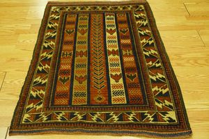 Colorful handmade Wool Persian/Afghan Baluchi rug 3'x4' for Sale in Silver Spring, MD