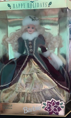 Mattel 1996 Happy Holidays Hallmark Fourth In Series Special Edition Barbie Doll for Sale in North Las Vegas, NV