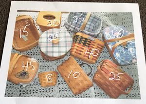 Longaberger Baskets for sale $10 to $50 check prices in pictures for Sale in Bristol, PA