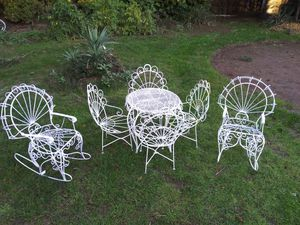 Antique wire table & chairs for Sale in Portland, OR