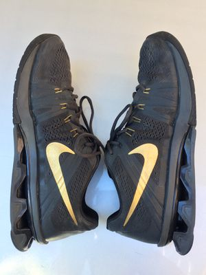 877840121f0 Nike Reax Lightspeed Mens Sz 11.5 Charcoal Gray Black  Gold Running Shoes  GREAT Zapatos for