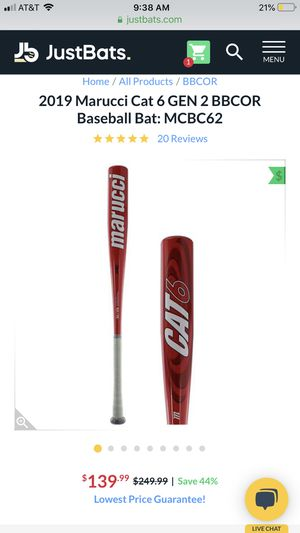 Marucci Cat 6 baseball bat and Umbro baseball gloves for Sale in Coral Gables, FL