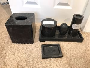 Decorative Stone Bathroom Set (6 items) for Sale in Cambridge, MA