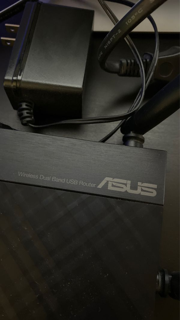 Asus gaming router with cat6 Ethernet cable
