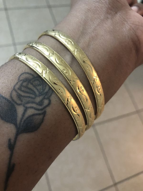 Real Gold Plated Bracelets