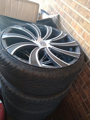 22 inch rims Black and Machine for sale for Sale in Blakely, GA