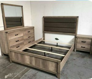 👉$39 Down Payment 👈👍 Matteo Light Brown Panel Bedroom Set for Sale in Jessup, MD
