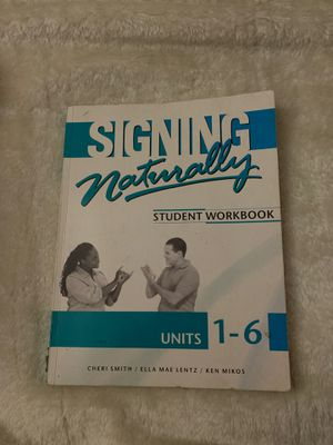 Signing Naturally: student workbook for Sale in Ontario, CA