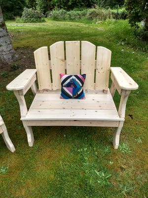 Pine Chairs - Wooden chairs - Outdoor Furniture - Unfinished - Set of Two - Made To Order for Sale in Monroe, WA