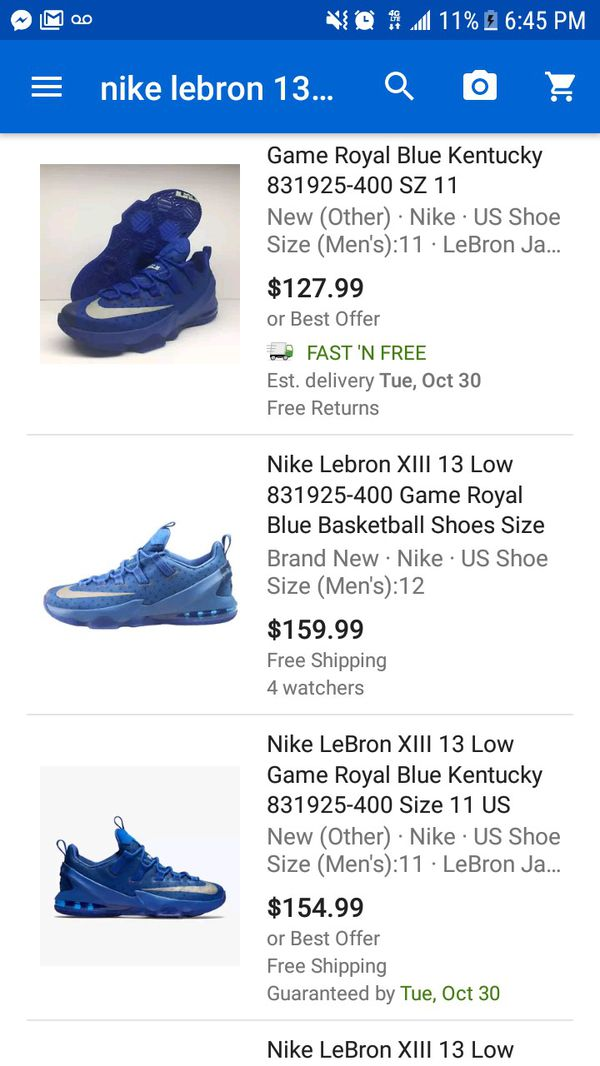 79ec00414527 Nike LeBron 13 lows royal blue NEW for Sale in Garland