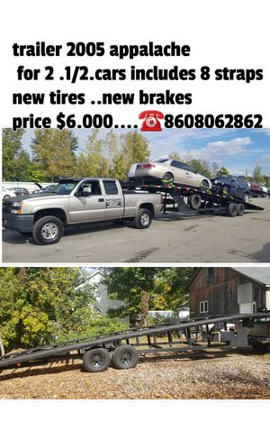 Trailer for 2 .1/2 new tires..New {url removed} good condition it is sold with 8 straps for Sale in New Milford, CT