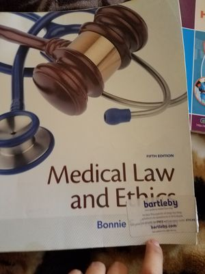 Medical Law and Ethics book 5th edition by Bonnie for Sale in Everett, WA