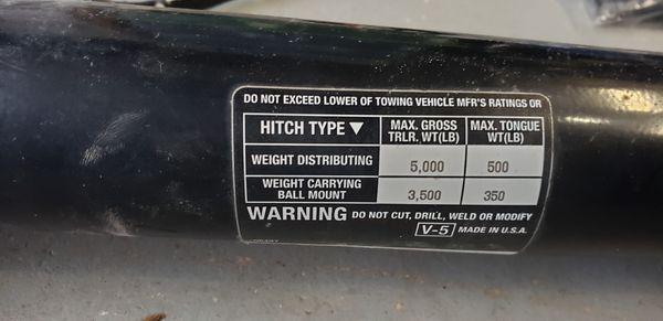 2016 Toyota sienna tow hitch