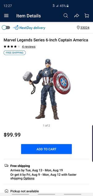 Marvel Legends Captain America Worthy Walmart action figures mjilnor for Sale in Pembroke Pines, FL