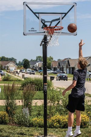 """😱Brand New in Box Silverback SBX 54"""" In-Ground Basketball Hoop with Adjustable-Height Backboard. Retails $399. Save $100. $299. Easy Financing Availa for Sale in Norfolk, VA"""