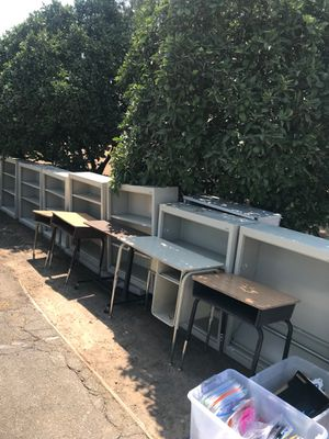 Desk 40 bookshelves 50 for Sale in Fresno, CA