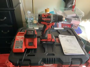 Millwaulkee m18 brushless 1/2 in drive drill driver with battery & charger new never used with milwaulkee bag. for Sale in Boston, MA