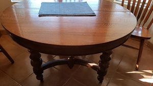 Antique table with leaf and 4 chairs. for Sale in Glendale, AZ