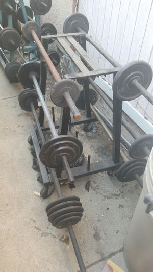 Weights/Curl bar for Sale in Los Angeles, CA
