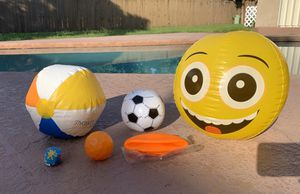 6 new & like new beach balls and pool toys for Sale in Plantation, FL