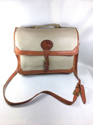 90s Vintage Dooney & Bourke All Weather Leather Briefcase Messenger Bag for Sale in Pomona, CA