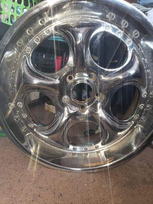 24 inch 5 lug chrome rims for Sale in Oretech, OR